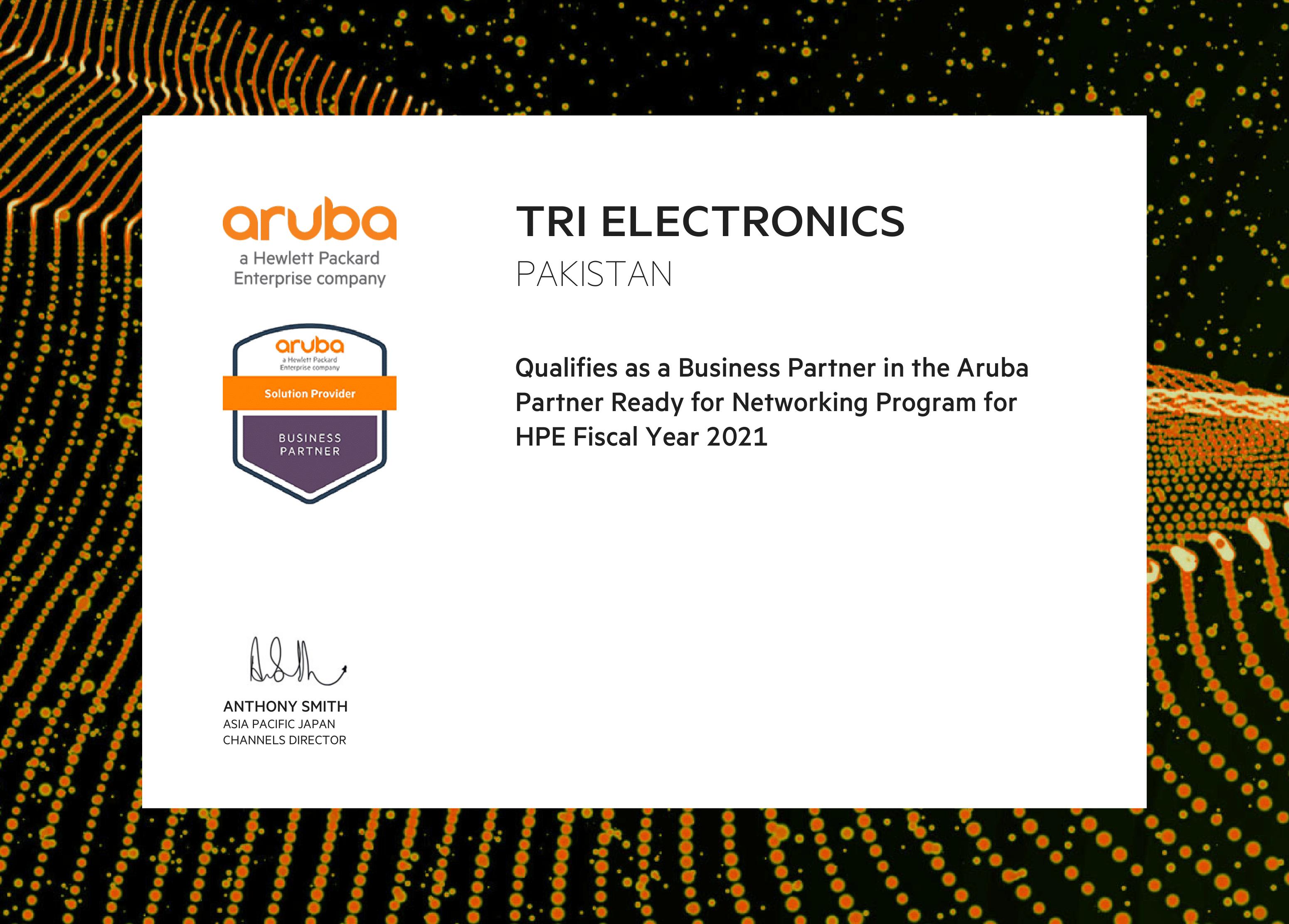 Tri Aruba Certificate-1